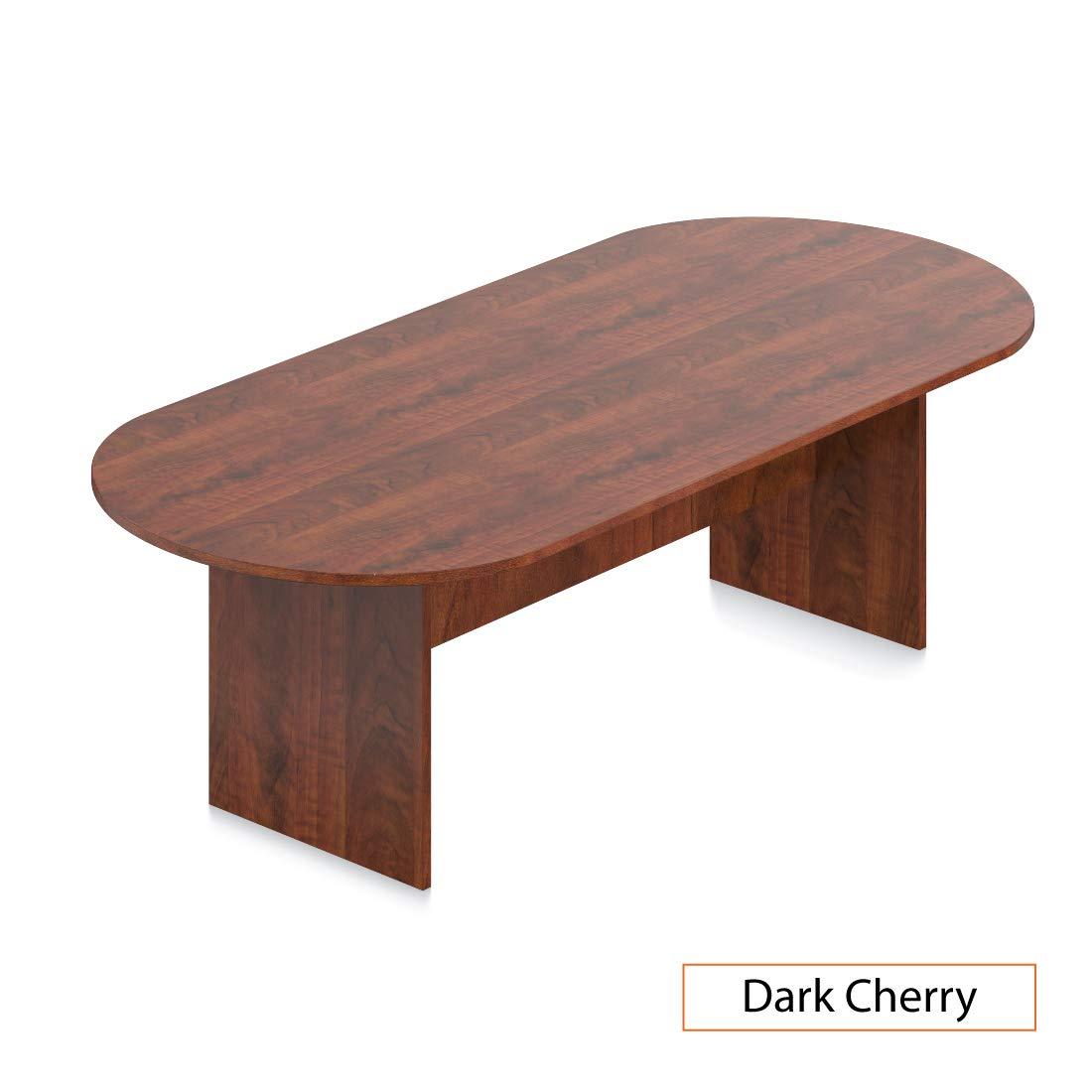 GOF 6FT, 8FT, 10FT Conference Table Chair (G10900B) Set, Cherry, Espresso, Mahogany, Walnut, Artisan Grey (8FT, Dark Cherry)