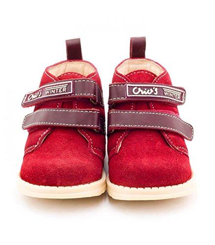 Boni Classic Shoes, Mädchen Hausschuhe Rotes Wildleder