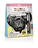 NPW NP31881 Make Your Own Chalkboard Balloons and Chalk Pen Set, All Occasion, Black/White