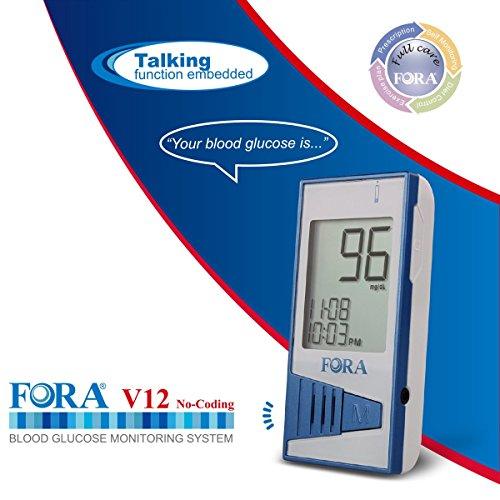 FORA-V12-Blood-Glucose-Monitor-use-FORA-V12-Test-Strip-Only
