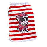 S-Lifeeling Sweet Shirts Spring Summer Teddy Dog Clothes Pet Costumes Handsome-Dog Pattern