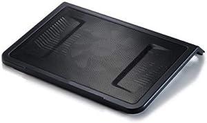 "FABAX Laptop Cooler Gaming Laptop Cooler Panel Single 160mm Fan 10""-17""Laptop Notebook Cooling Pad USB Powered Fan R9-NBC-NPL1 Office Notebook Cooler (Color : Black)"