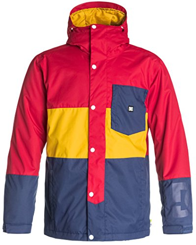 DC Shoes Mens Dc Shoes Defy - Snowboard Jacket - Men - M - Red Tango Red M
