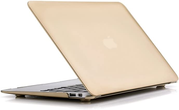 RUBAN Case Compatible with MacBook Air 11 Inch Release (A1370/A1465), Plastic Hard Case Cover for MacBook Air 11 Inch, Gold
