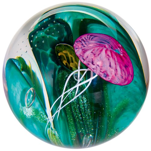 (Glass Eye Studio Phantom of the Sea Blown Glass Paperweight)