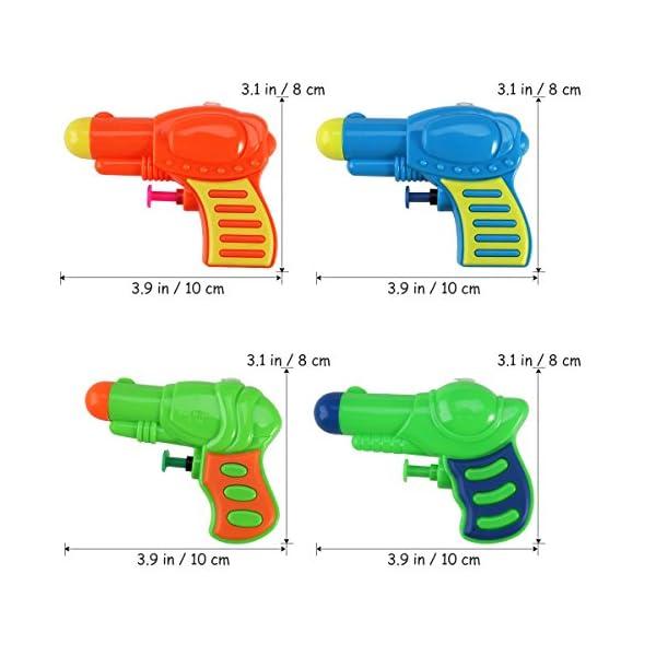 TOYMYTOY Acqua pistola Squirt pistola di plastica per bambini confezione da 12 (colore casuale) 4 spesavip