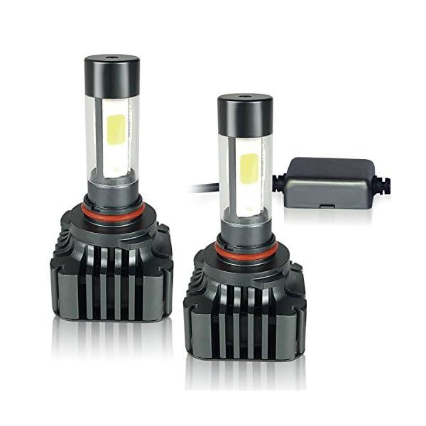 Zdatt 12000LM LED HeadLight Bulbs Conversion Kit 100W Full Lights High Beam 360 Degree Lighting For Car Lamp Replacement Amber(3000K)/White(6000K)/Light Blue(8000K) 2 Year Warranty