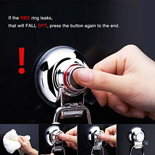 FUNRUI SUS304 Stainless Steel Suction Toilet Roll Holder No Drilling Bathroom Kitchen Accessories Tissue Towel Roll Holder Hook Hanger Chrome Plated by FUNRUI (Image #5)