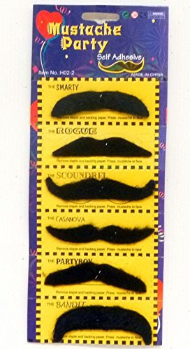 Di Set nbsp;haft Lp 6 Costume Moustaches FZz80zqyWt