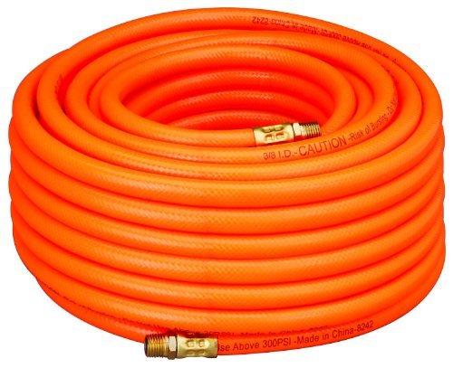 Amflo 576-100A Orange 300 PSI PVC Air Hose 3/8 x 100' With 1/4 MNPT End Fittings by Amflo