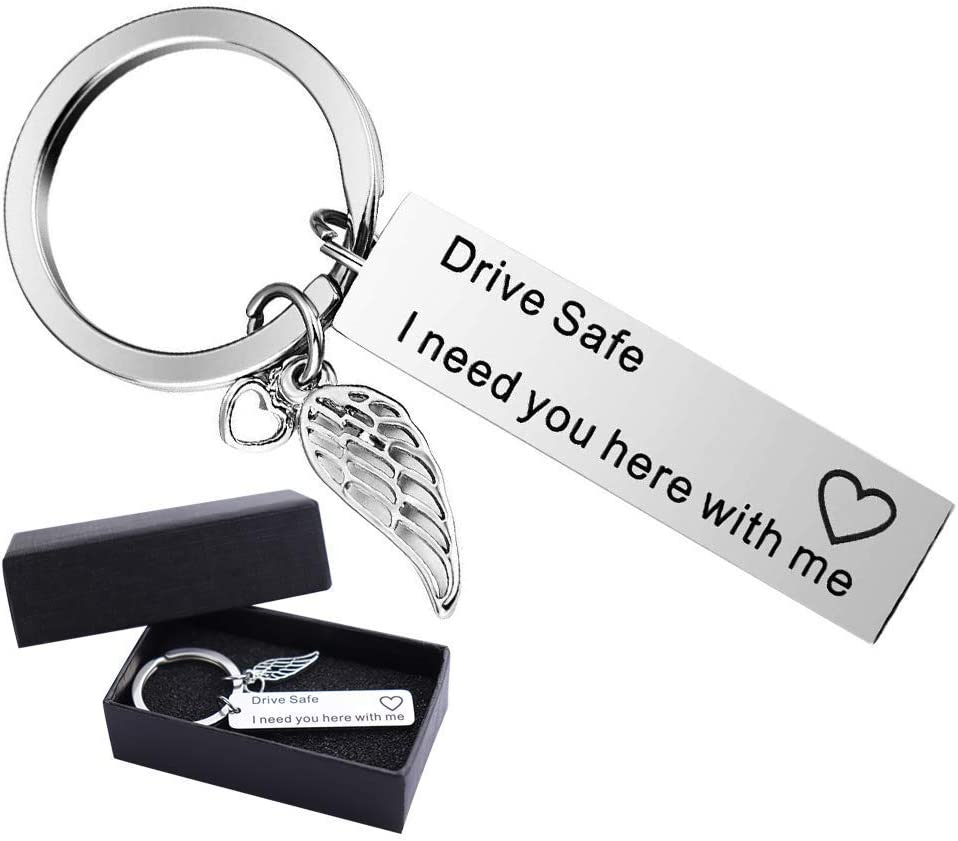 I Need You Here with Me Key Rings Birthday Personalized Gift for Husband Boyfriend Best Key Ring/… Drive Safe Keyring