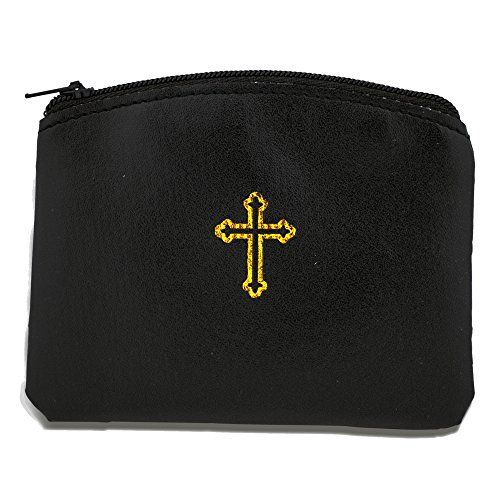 Venerare Beautiful Catholic Rosary Case (1, Black) (Case First Rosary)