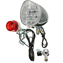 ILS - Motorized Bike Friction Power Generator Generation Dynamo Rear Tail Light Kit