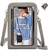 Handy Umhängetasche Damen, Touchscreen Tasche Kleine Crossbody Schultertasche Brieftasche Handtas...