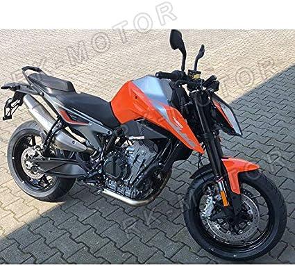 Pieces de Sport Motorise Levier de frein moto en aluminium r/églable Pliable dembrayage Levier de frein Extendable For KTM 790 DUKE 2018 UP Avec DUC Logo Color : All black
