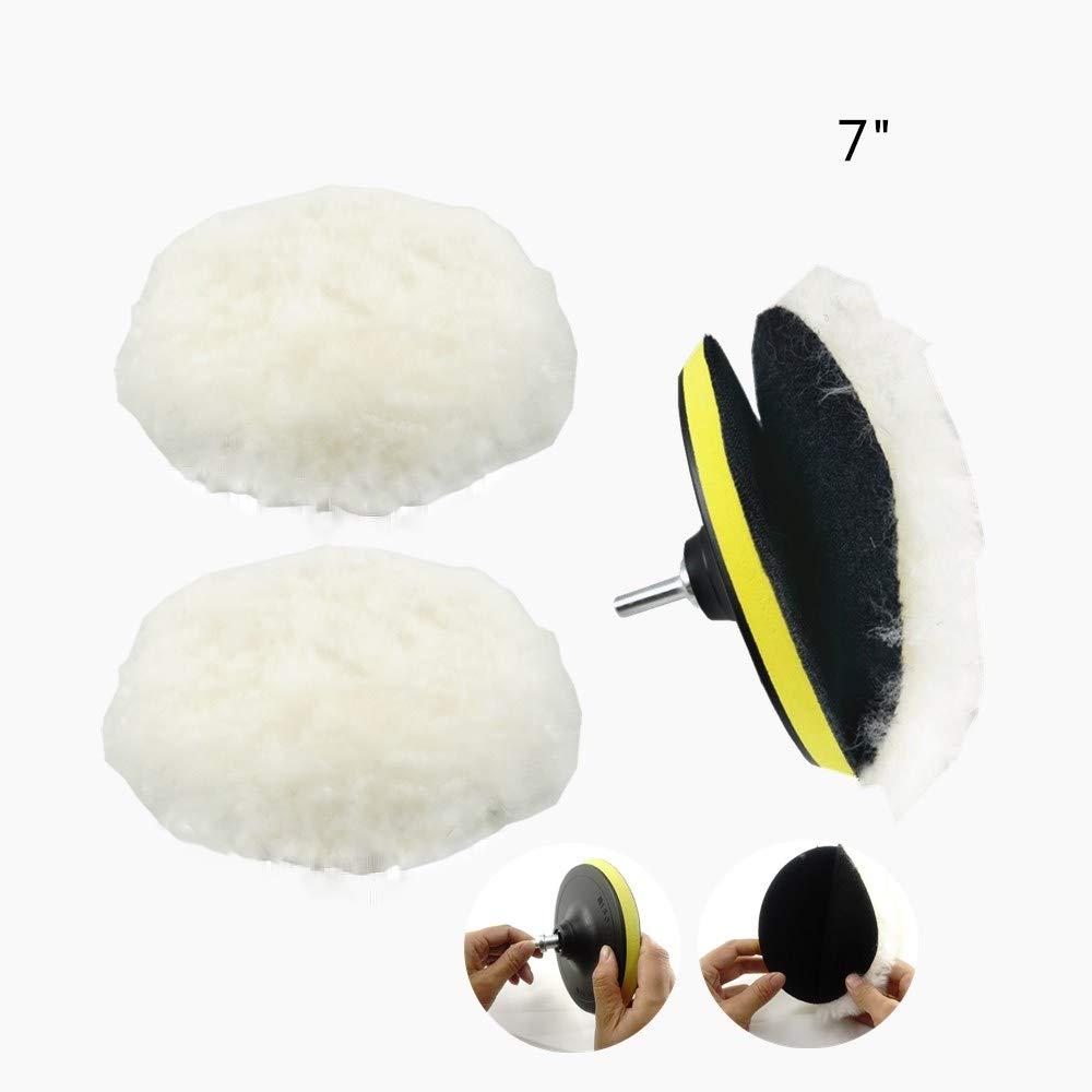 Cheefull mobili auto con adattatore per trapano M14 lucida oggetti come pietra artificiale kit per lucidatura a ruota,/lucidatrice di lana con imbottitura