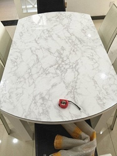 Moyishi Grey Granite Look Marble Gloss Film Vinyl Self
