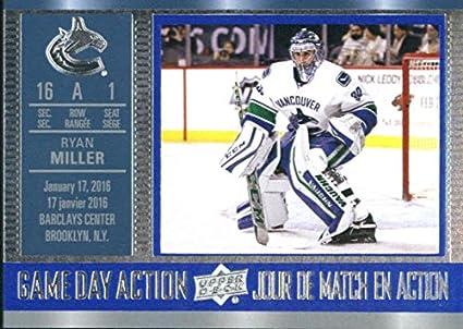 2018-19 Tim Hortons Game Day Action GDA-1 Brock Boeser Vancouver Canucks Games