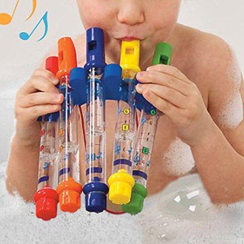 Pomcat 5PCS Bain Eau fl/ûtes Jouet avec des Feuilles de Musique pour Les Enfants /à Avoir Bain CJ679