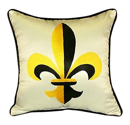 Amazoncom Betsy Drake Fleur De Lis Pillow 18 X 18 Home Kitchen