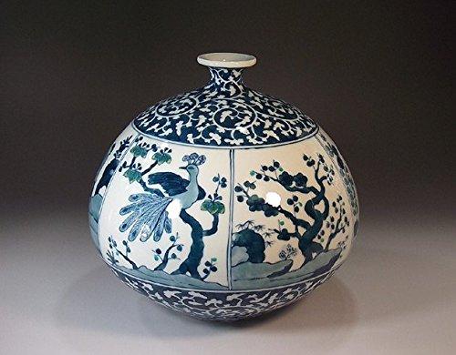 日本の伝統工芸品|有田焼陶器花瓶唐草割景図|贈答品|ギフト|記念品|贈り物|藤井錦彩 B00M2B2QMU