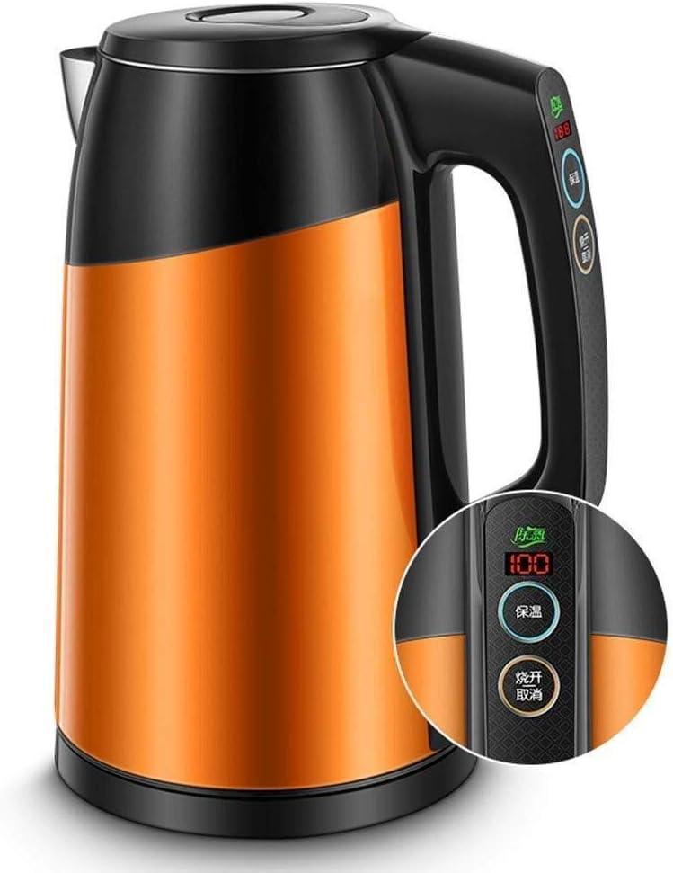 絶縁ポット、国内電気ボイラー、サーモスタット、ボイラー、ボイラー、大容量、ボイラー、自動切断、電源オフ - オレンジ1.7 L (Color : Orange, Size : A)