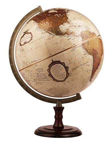 Replogle Desktop World Globe - Replogle Superior- Bronze Metallic Desktop World Globe, Raised Relief (12