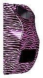 Hair dryer/hair straightener holder (Pink & Black Zebra Print)