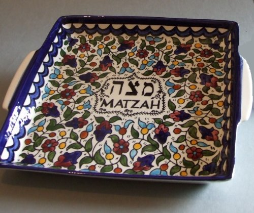 - Matzah Plate for the Seder Night, Matzah Holder for Passover