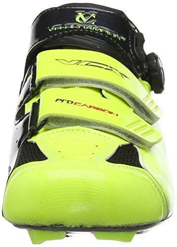 VCX Fluoro Black de Cycle cyclistes avec Shoes semelles Chaussures fibres VeloChampion Yellow carbone paire RFgqRd