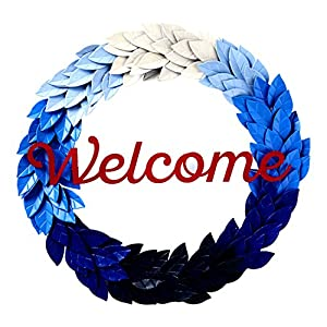 Hallmark Home Patriotic Metal Home Decor Welcome Sign Wreath 21