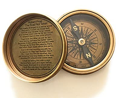 Robert Frost Poem Compass-Pocket Compass