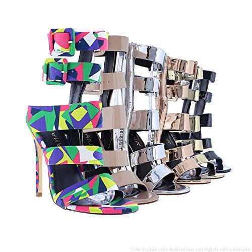 7566cfd14d9 Liliana Shoes Women s Caged Heel Tisha 40