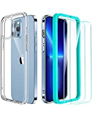 ESR Case and Screen Protector Set Compatible with iPhone 13 Pro, Includes 2-Pack Tempered-Glass Screen Protectors, Military-Grade Protection, Classic Series, Clear