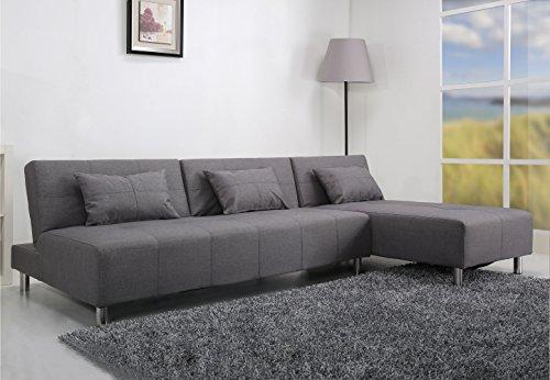 Gold Sparrow Atlanta Convertible Sectional Sofa Bed, Light Gray