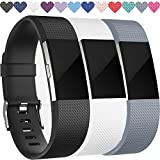 Kyпить Replacement Bands for Fitbit Charge 2, 3-Pack Fitbit Charge2 Wristbands, Small, Black, Gray, White на Amazon.com