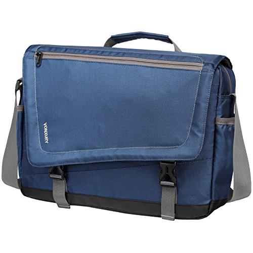 Lightweight Water Resistant 15.6 Laptop Messenger Bag for Men School Office Shoulder Bag by Vonxury Blue ()