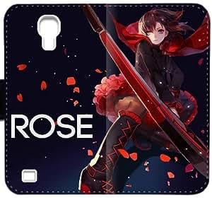 Caja de cuero RWBY Ruby Rose I7U1V Funda Samsung Galaxy S4 Funda P3Ar6L caso del tirón del teléfono funda de plástico personalizada