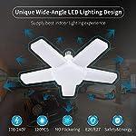 ALOVECO LED Garage Lights, LED Garage Ceiling Lights 60W 6000LM, E26/E27,CRI 80, 6000K Daylight White with 5 Adjustable… 9