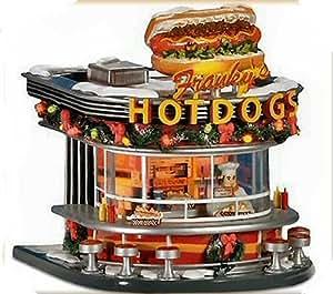 Amazon.com: Dept 56 Franky's Hot Dogs Snow Village: Home