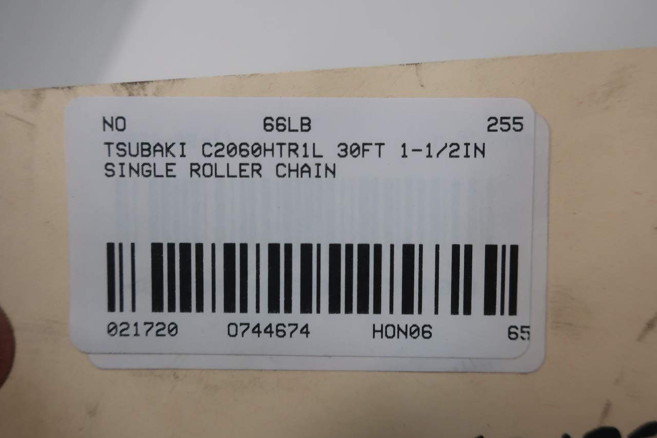 TSUBAKI C2060HTR1L Single Roller Chain 30FT 1-1//2IN