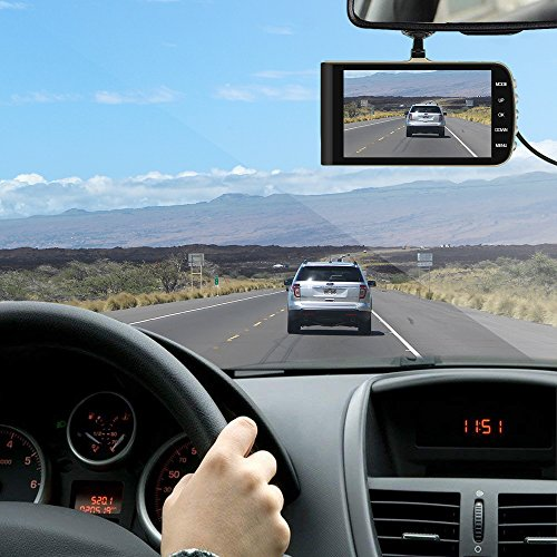 [2018 Upgraded] GEARGO Dash Cam 4'' Display 1080P HD Overhead Dashboard Mounted Camera Car Video Recorder with Dual Camera Wide Angle, G-Sensor, Loop Recording, Night Vision by GEARGO (Image #6)