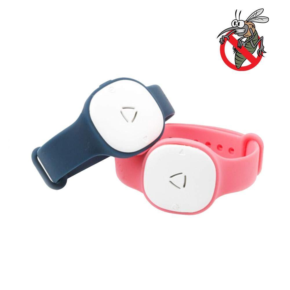 Silikon Ultraschall elektronische Anti-M/ücken-Armband f/ür Kinder//Erwachsene Jinclonder M/ückenschutz Armband//Halskette