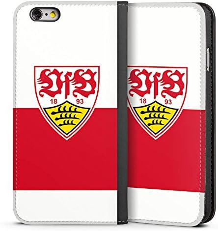 DeinDesign Leder Flip Case kompatibel mit Apple iPhone 6s Tasche H/ülle VfB Stuttgart Offizielles Lizenzprodukt Logo