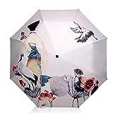Sun Umbrella Multi Umbrella Travel Umbrella 8 Ribs Kimono and Hok Sturdy Portable Stainless Steel Construction Fast Drying Folding Waterproof Umbrella for Women, Men, Children and Kids Portable Umbrel