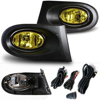 02-04 Acura RSX Yellow OEM Style Fog Lights Kit