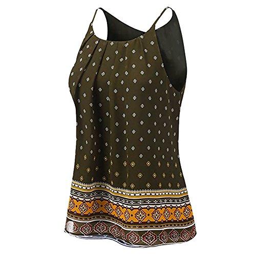 Women Summer Floral Vest Top Sleeveless Casual Tank Blouse Tops T-Shirt AG/XL