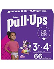 Girls Potty Training Underwear, Easy Open Training Pants 3T-4T, Pull-Ups Learning Design for Toddlers, 66ct, Giga Pack