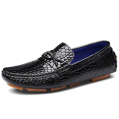 Uomo Shenn scivolare su piatto lso matrimonio leather mocassini scarpe 3321