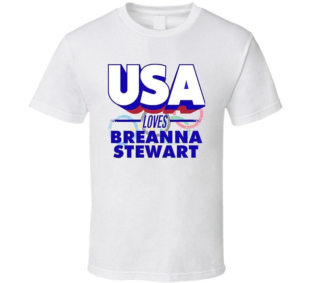 Estados Unidos Loves Breanna Stewart EE. UU. Baloncesto Juegos ...